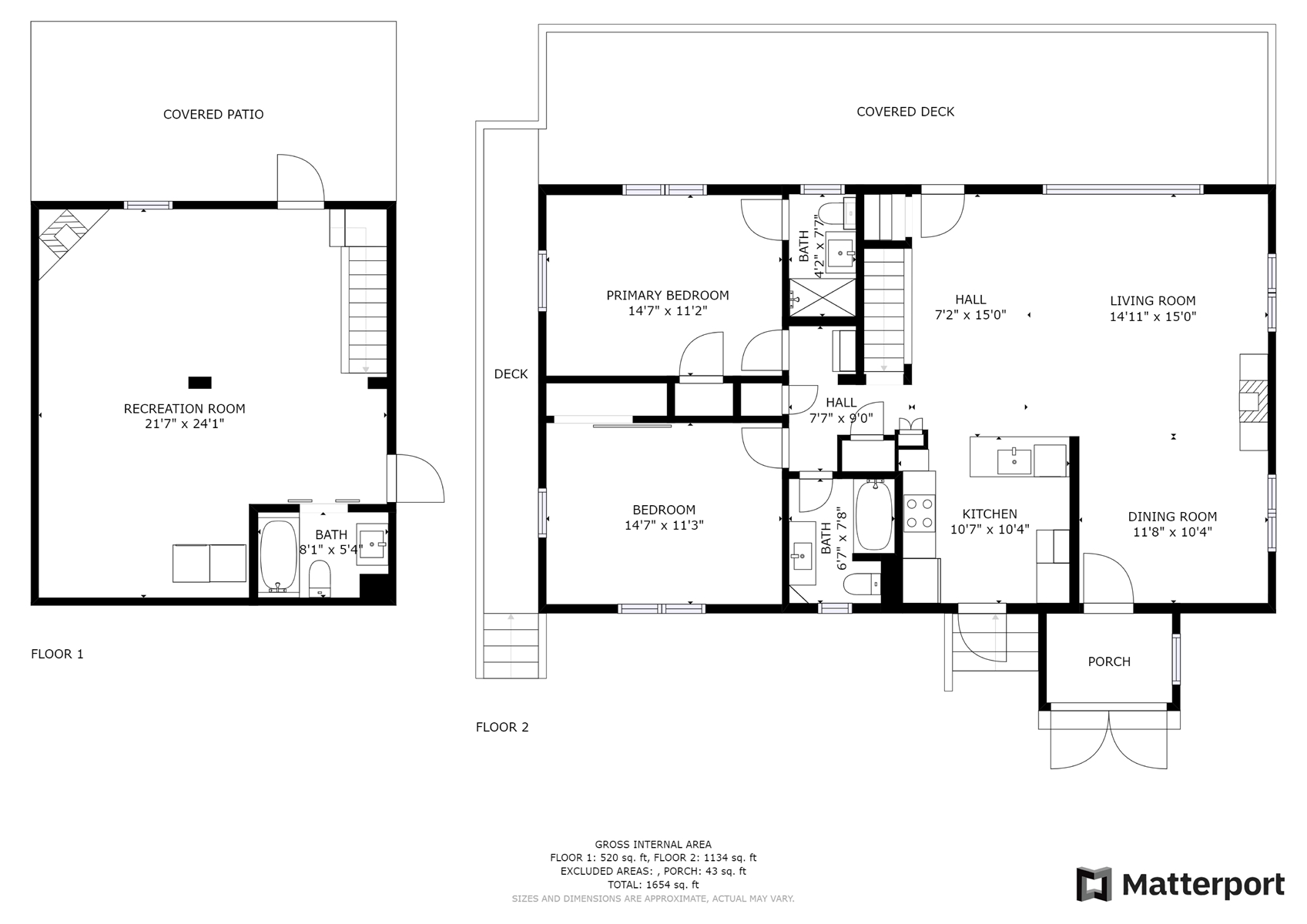 Floor Plan for *NEW* Fabulous, Private & Close to Town!