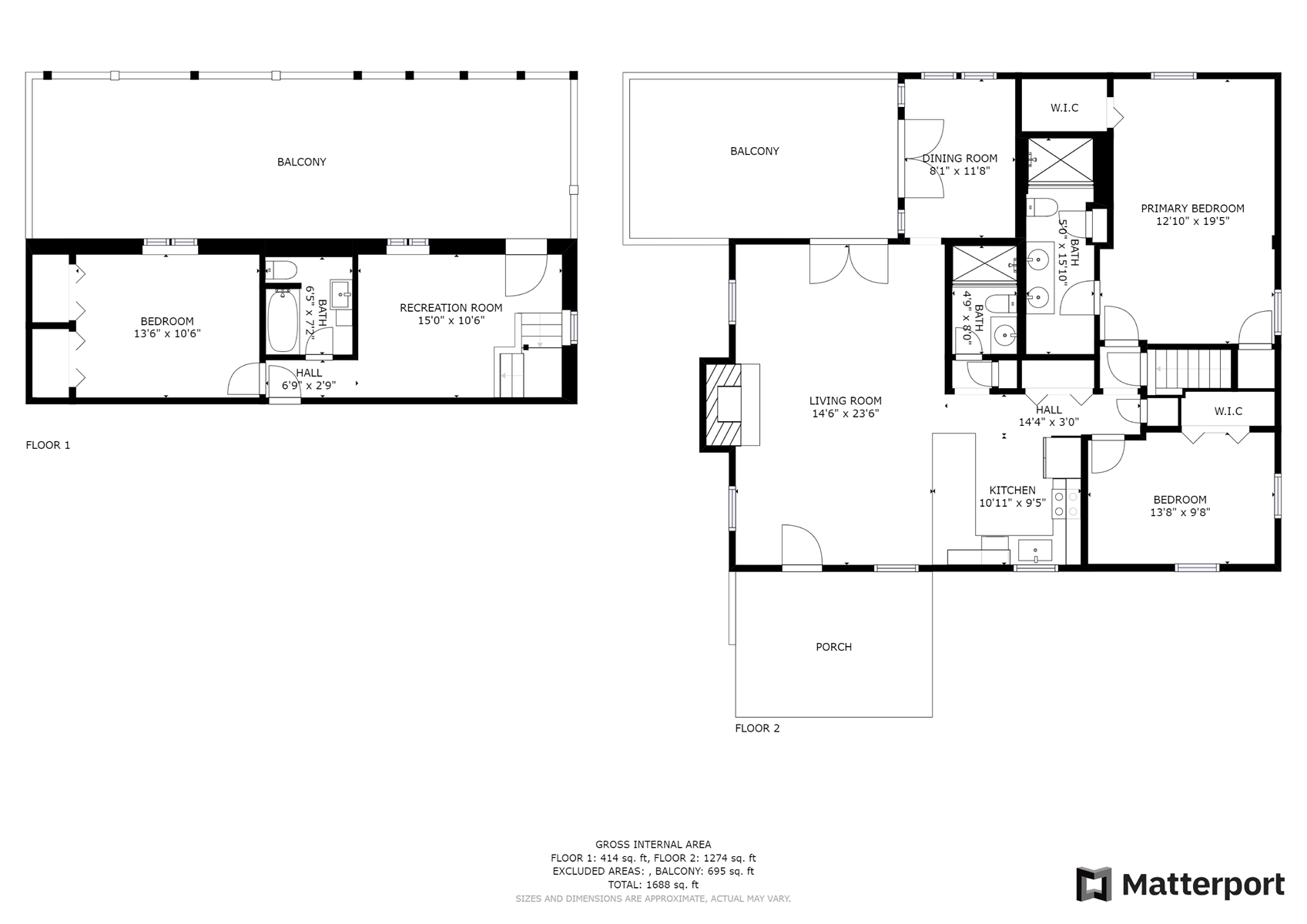 Floor Plan for *WALK TO TOWN* Harris Lake Area