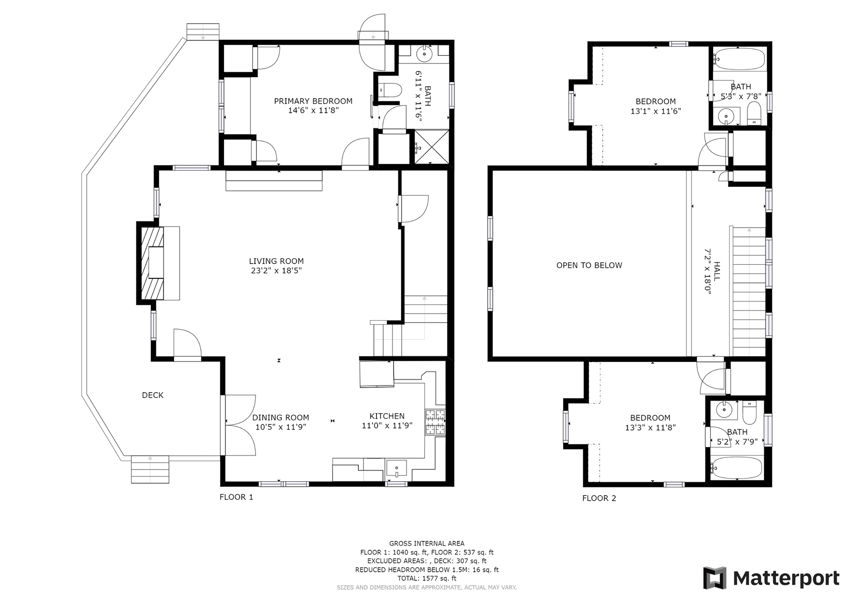 Floor Plan for *WALK TO TOWN* Completely renovated and just one block from Main Street and Downtown Highlands!