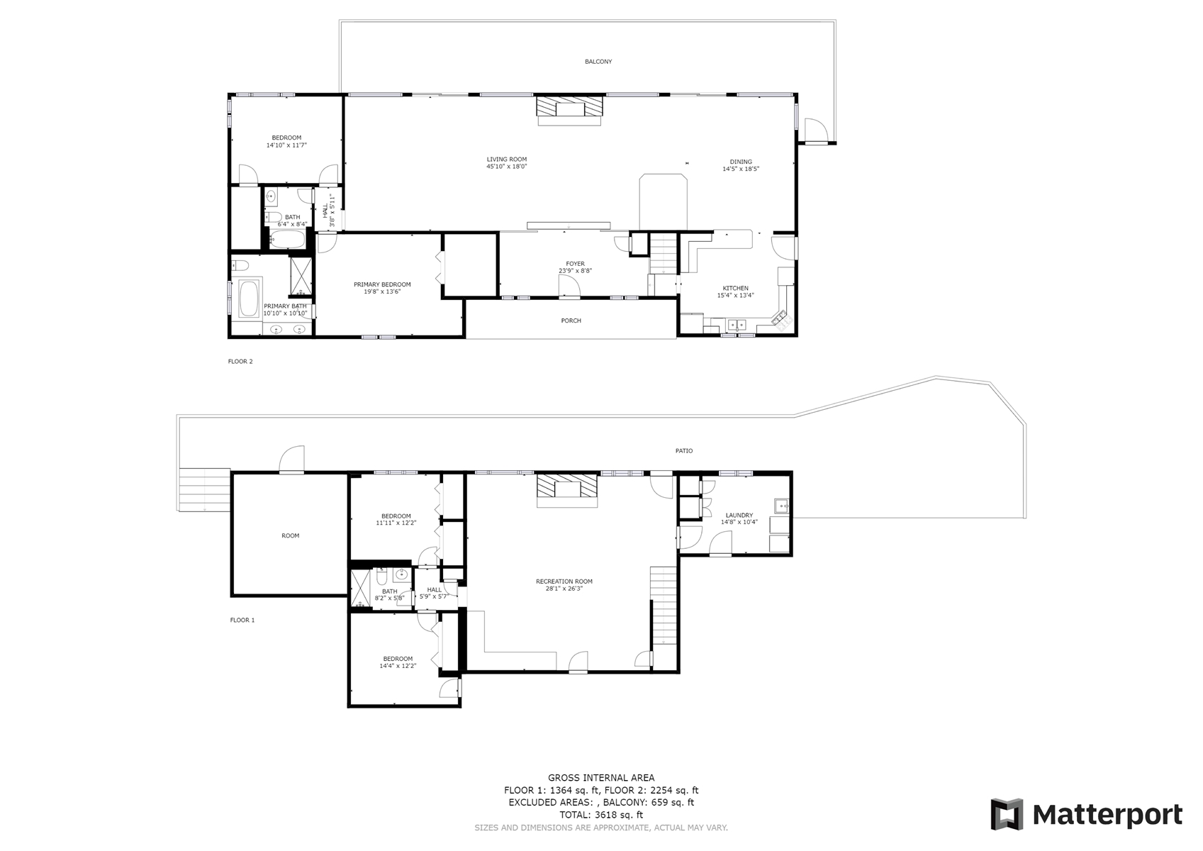 Floor Plan for *LAKEFRONT* Spacious Home with Kayaks directly on Lake Sequoyah!