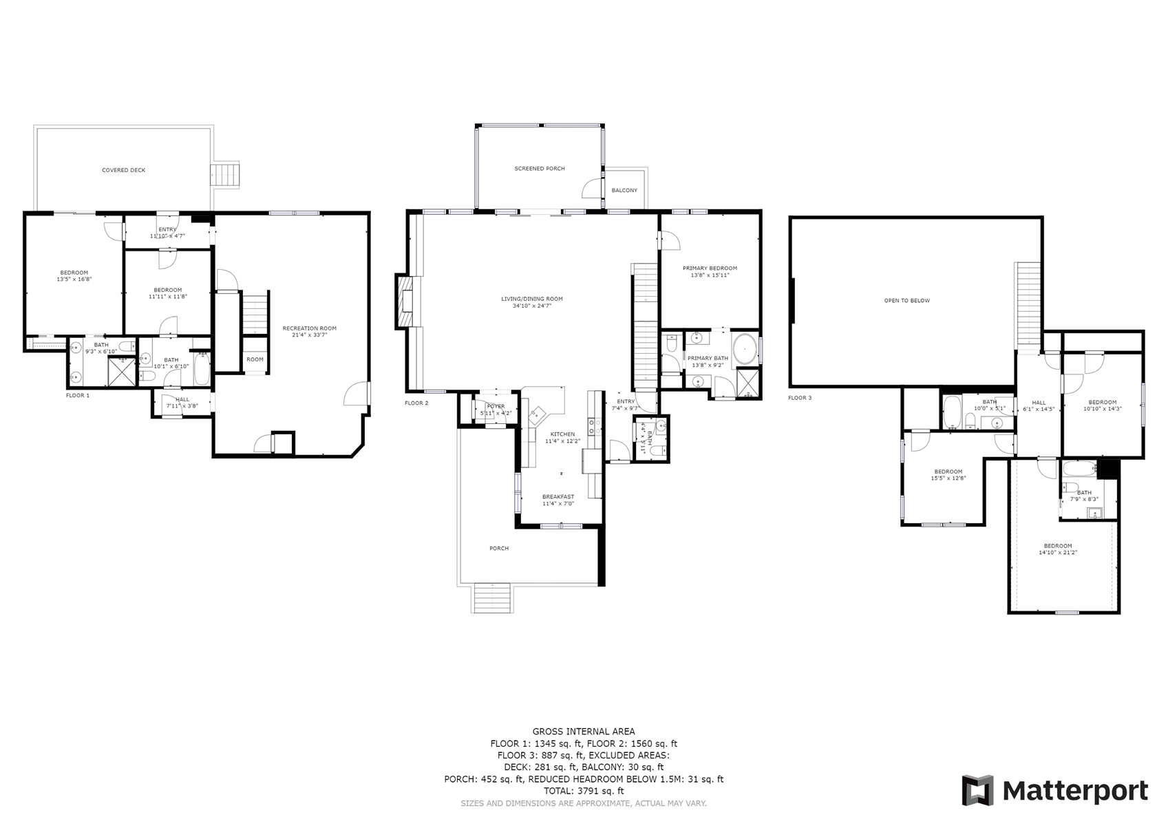 Floor Plan for  Beautiful custom home just 3.8 miles to downtown Highlands